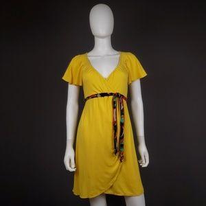 Nanette Lepore S Lemondrop Pegasus Belted Dress